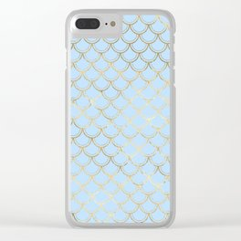 Elegant and Lovely Gold Scales Pattern Clear iPhone Case