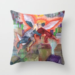 cyber cupid Throw Pillow