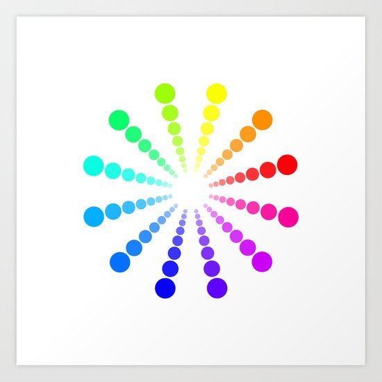 dots & circles o2 Art Print