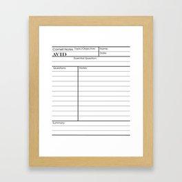 Cornell Notes Framed Art Print