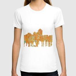 Albuquerque, New Mexico Skyline - Rust T-shirt