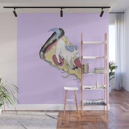 Pizza Unicorn Kawaii Wall Mural