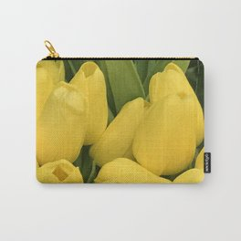 Yellow Tulip Buds With Hint of Leaves Carry-All Pouch