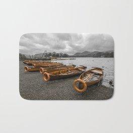 Boats at Derwent Water Bath Mat