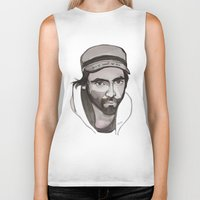 patrick Biker Tanks featuring Patrick Watson by Icillustration