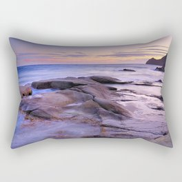 Purple Sunset At Vela Blanca Tower Rectangular Pillow