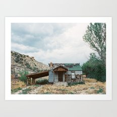 House outside of Zion Art Print