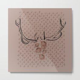 Dusky Flowerskull Metal Print