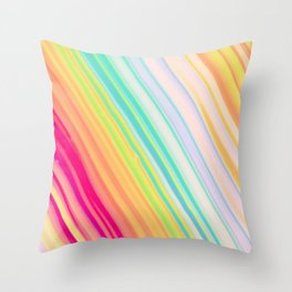 Colorful Rays Throw Pillow