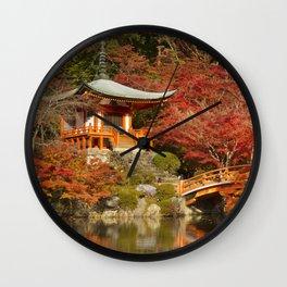 Autumn colours at Daigo-ji Temple in Kyoto, Japan Wall Clock