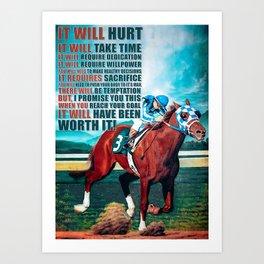 Animals Horse It Will Hurt Art Print