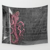 melbourne Wall Tapestries featuring Unseen Monsters of Melbourne - Franken Muth Deluxe by Unseen Monsters