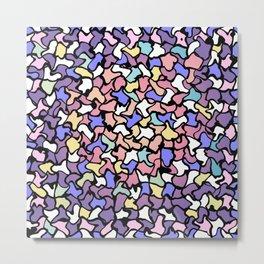 Wobbly Pastel Tone Tiles Metal Print