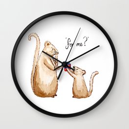 For Me? Wall Clock