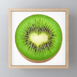 Kiwi heart Framed Mini Art Print