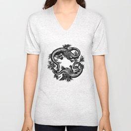 Salamander and Dragon Unisex V-Neck