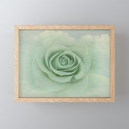 Dreamy Vintage Floating Rose Framed Mini Art Print