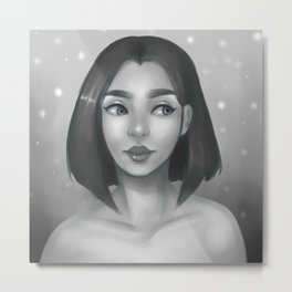 Grayscale Metal Print