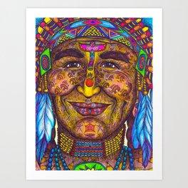 Wisdom Keeper Color #31 (Leadership) Art Print