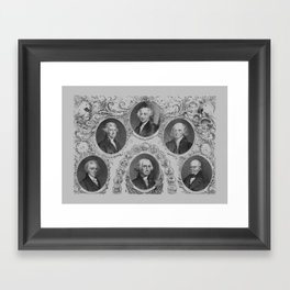 First Six Presidents of The United States of America Framed Art Print