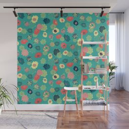 Succulent Blooms Wall Mural