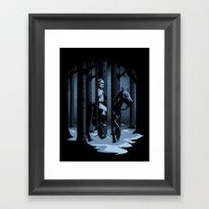 The Walker in the Woods Framed Art Print