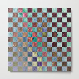 CHECKER Metal Print