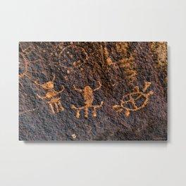 Desert Rock Art - Petroglyphs I Metal Print