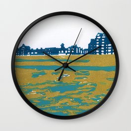 Seaview Kingsway in Turquoise Wall Clock