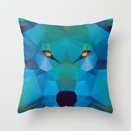 Wolf Crystallize 02 Throw Pillow
