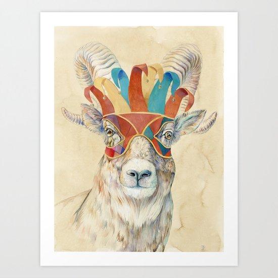 Bighorn Sheep  Art Print
