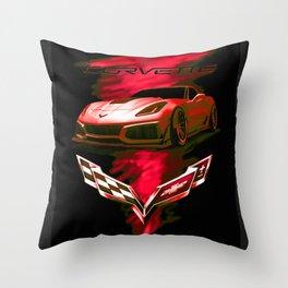 The Fire Speed - USA Supercar Throw Pillow