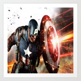 Man Of Captain In America Art Print