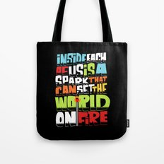 a spark inside Tote Bag
