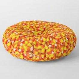 Candy Corn Halloween Candy Photo Pattern Floor Pillow