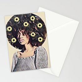 I am a strong black woman Stationery Cards