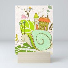 Gayle the Snail Mini Art Print