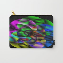 Concentric Vibrancy - Abstract, neon, geometry artwork Carry-All Pouch