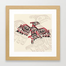 Salish Thunderbird Framed Art Print