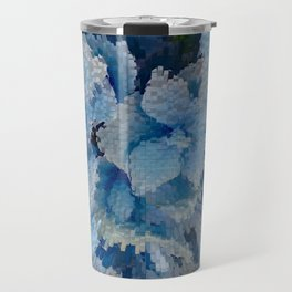 Hydrangea glitches Travel Mug