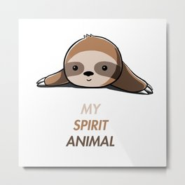 My animal spirit - Sloth Metal Print