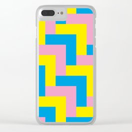 An easy one. Arrow heads...Graphical arrow heads in children colors. Clear iPhone Case