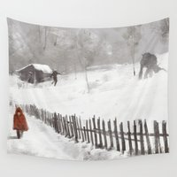 bad wolf Wall Tapestries featuring Big bad Wolf by SuperMike