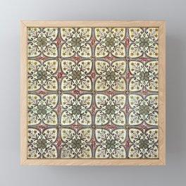 Floor Series: Peranakan Tiles 11 Framed Mini Art Print