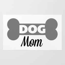 Dog Mom Quote Rug