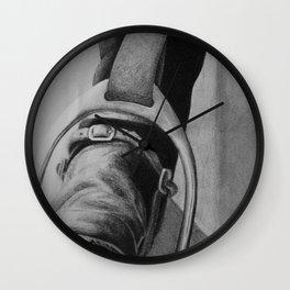 Heels Down Wall Clock
