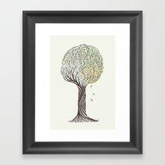season tree Framed Art Print