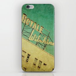 1926 Wilshire Royale Art Deco Vintage Sign iPhone Skin