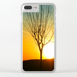 glorious sunset Clear iPhone Case