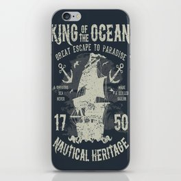 King of the Ocean iPhone Skin